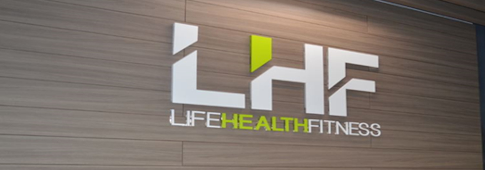 Life Health Fitness wall-mounted sign